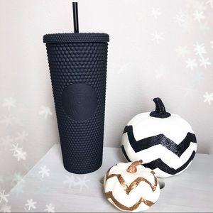 NWT Starbucks Studded Matte Black Tumbler Venti 24